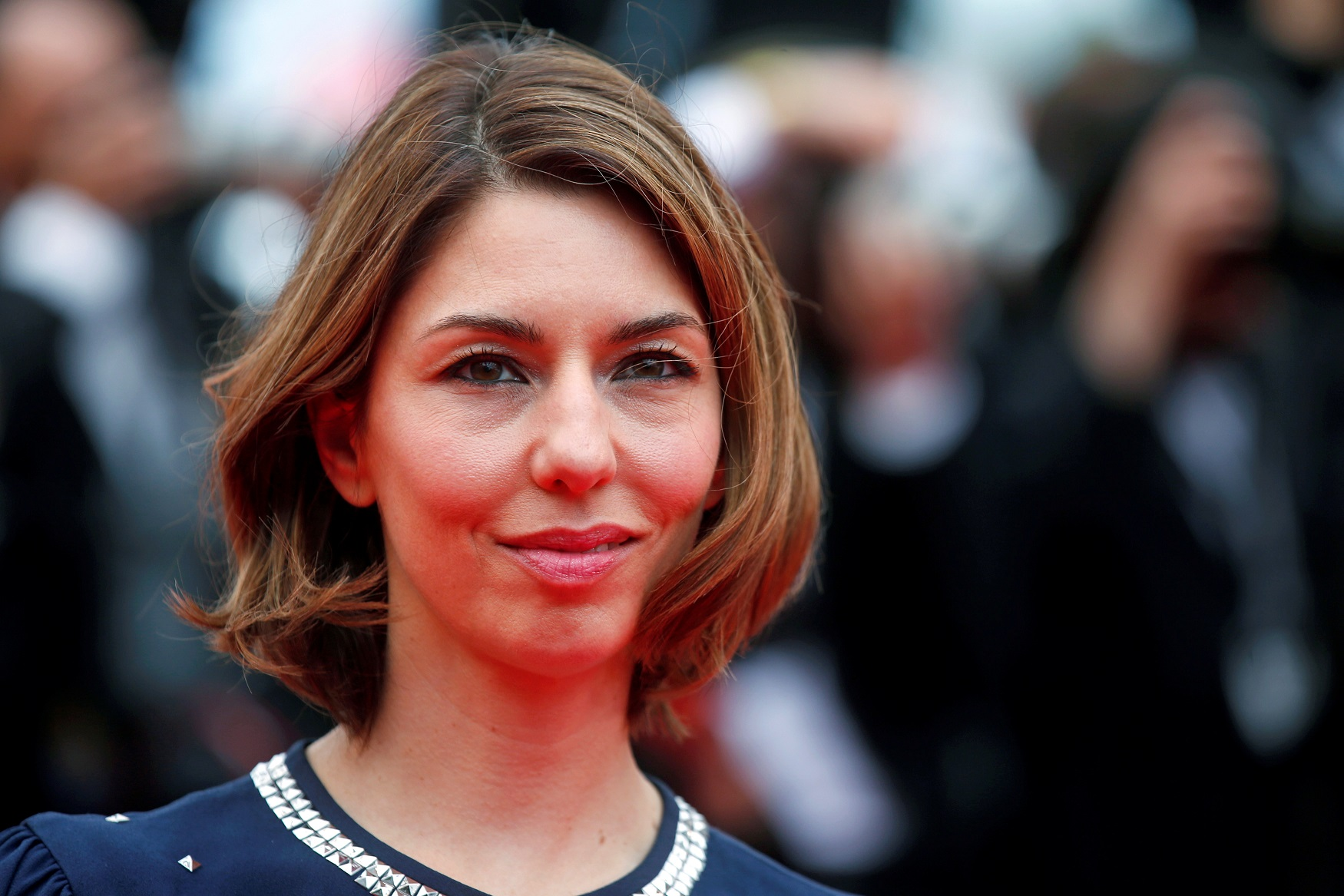 Director Sofia Coppola poses on the red carpet as she arrives for the screening of the film